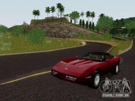 Chevrolet Corvette C4 1984 para GTA San Andreas traseira esquerda vista