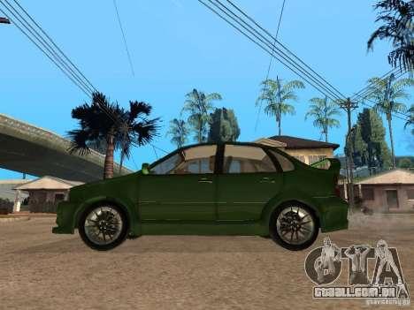 Lada Kalina Sport Tuning para GTA San Andreas esquerda vista