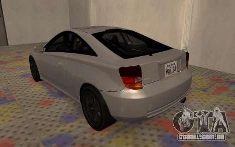 Toyota Celica 2JZ-GTE para GTA San Andreas vista direita