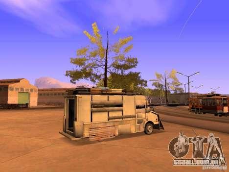 Monster Van para GTA San Andreas esquerda vista