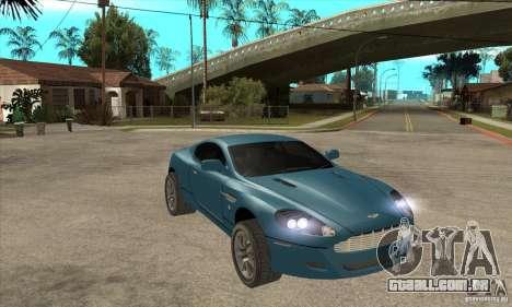 Aston Martin DB9 do NFS MW para GTA San Andreas vista traseira