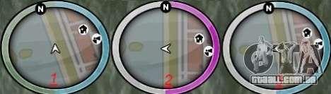 New GTA IV HUD 1 para GTA San Andreas segunda tela