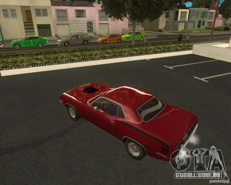Plymouth Hemi Cuda 440 1970 do NFS PS para GTA San Andreas esquerda vista