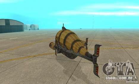Dirigível do TimeShift para GTA San Andreas vista direita