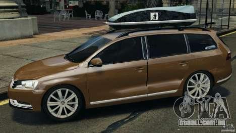 Volkswagen Passat Variant B7 para GTA 4 esquerda vista
