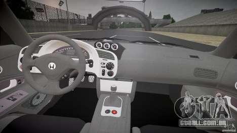 Honda S2000 Tuning 2002 pele 3 para recozimento para GTA 4 vista de volta