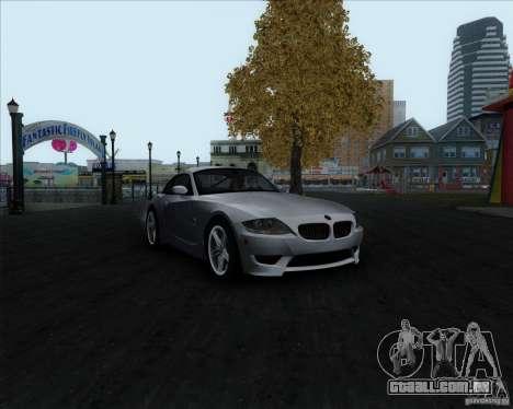 BMW Z4M para GTA San Andreas vista traseira