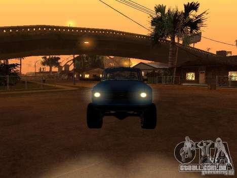Moskvich 412-4 x 4 para GTA San Andreas vista inferior