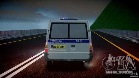 Ford Transit Polish Police [ELS] para GTA 4 interior