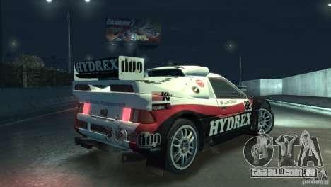 Ford RS200 Evolution Rallycross para GTA 4 vista de volta