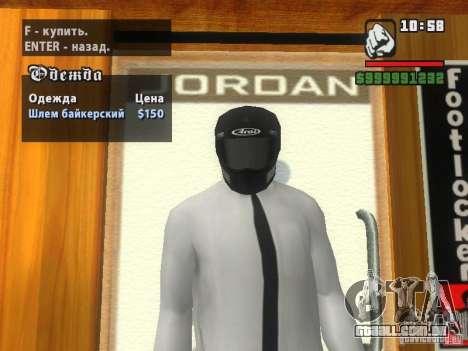 Black Helmet para GTA San Andreas