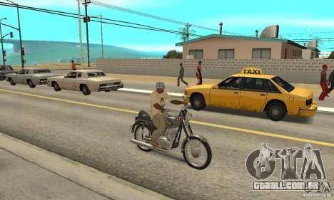 Jawa 350 634V5 atualização para GTA San Andreas vista direita