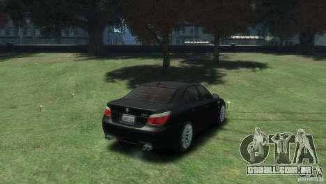 BMW M5 para GTA 4 vista direita