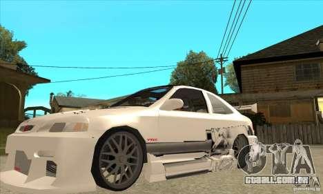 Honda Civic Tuning Tunable para GTA San Andreas interior