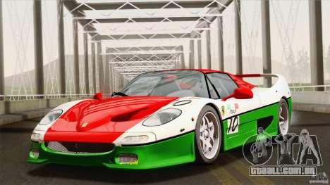 Ferrari F50 v1.0.0 Road Version para GTA San Andreas vista inferior