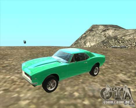 Chevrolet Camaro z28 para GTA San Andreas esquerda vista