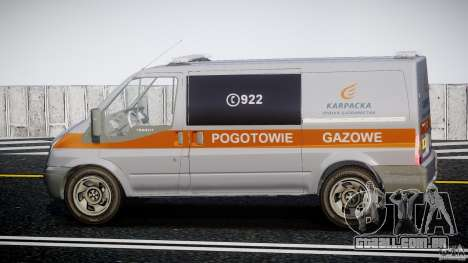 Ford Transit Usluga polski gazu [ELS] para GTA 4 esquerda vista