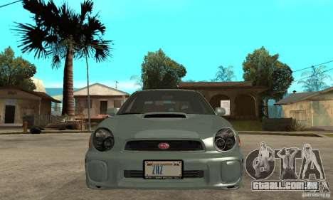 Subaru Impreza 2002 Tunable - Stock para GTA San Andreas vista superior