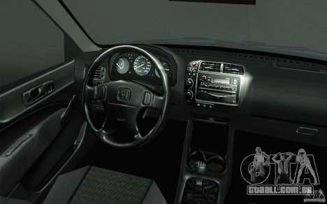 Honda Civic EK9 JDM v1.0 para GTA San Andreas vista superior