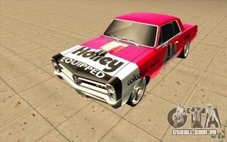 Pontiac GTO 1965 NFS Pro Street com novos vinis para GTA San Andreas