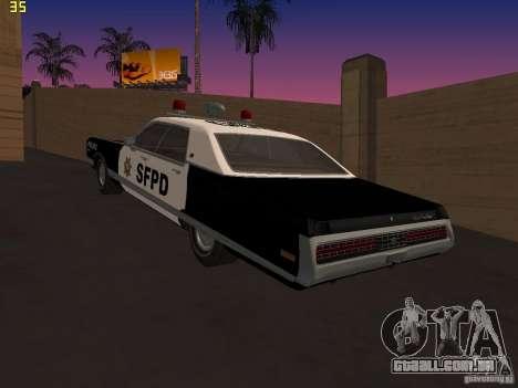 Chrysler New Yorker Police 1971 para GTA San Andreas esquerda vista