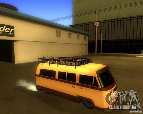 Volkswagen Kombi Classic Retro para GTA San Andreas vista traseira