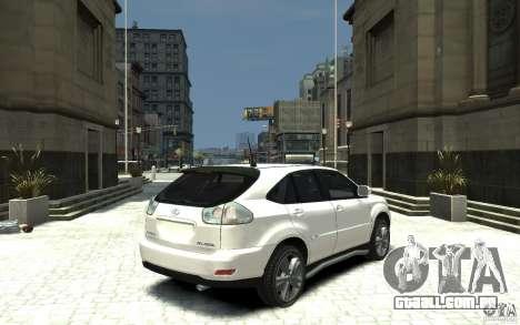 Lexus RX 400h para GTA 4 vista direita