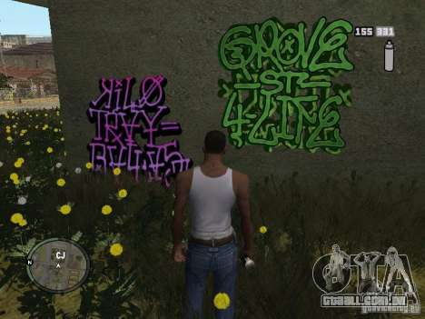 My Gang Tags para GTA San Andreas segunda tela