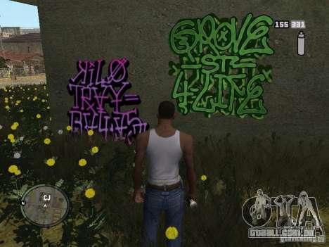 My Gang Tags para GTA San Andreas segunda tela