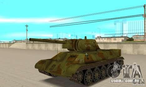 Tanque T-34/76 para GTA San Andreas