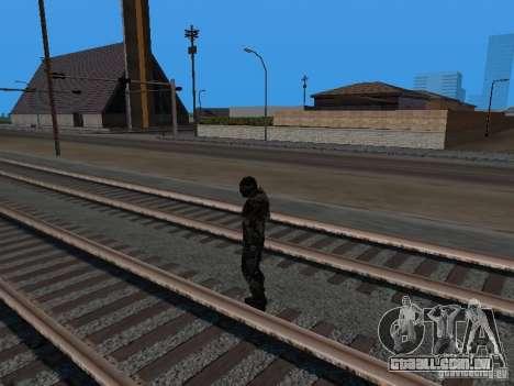Crysis Nano Suit para GTA San Andreas sexta tela