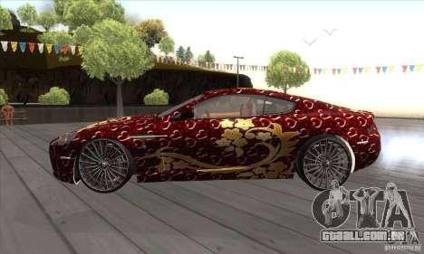 Aston Martin DB9 Female Edition para GTA San Andreas esquerda vista
