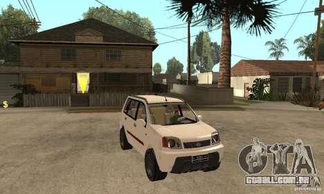 Nissan X-Trail para GTA San Andreas vista traseira