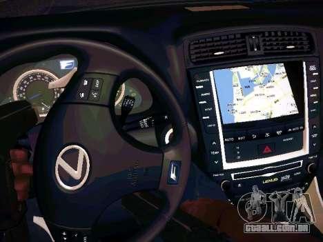 Lexus I SF para vista lateral GTA San Andreas