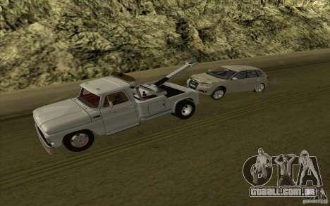 Chevrolet guincho para GTA San Andreas vista traseira
