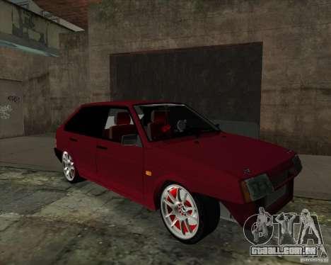 VAZ 2109 Drift para GTA San Andreas esquerda vista