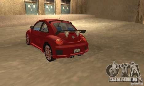 Volkswagen Bettle Tuning para GTA San Andreas traseira esquerda vista