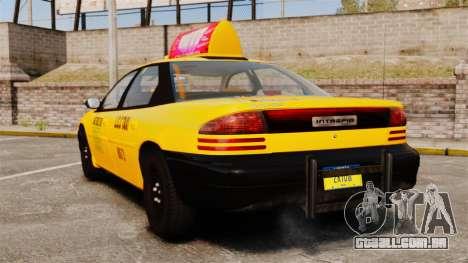 Dodge Intrepid 1993 Taxi para GTA 4 traseira esquerda vista