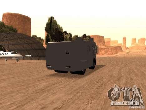Um canhão de água polícia Rosenbauer v2 para GTA San Andreas vista direita