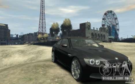 BMW M3 E92 2008 para GTA 4 vista de volta
