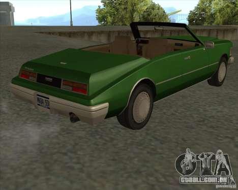 HD Idaho para GTA San Andreas vista traseira