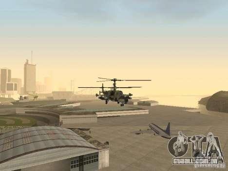 Ka-50 Black Shark para GTA San Andreas vista interior