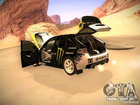 Subaru Impreza Gymkhana para GTA San Andreas vista interior