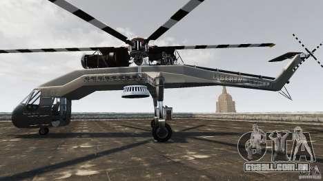 SkyLift Helicopter para GTA 4 esquerda vista