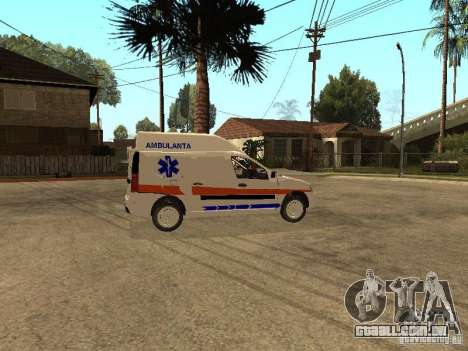 Dacia Logan Ambulanta para GTA San Andreas vista traseira