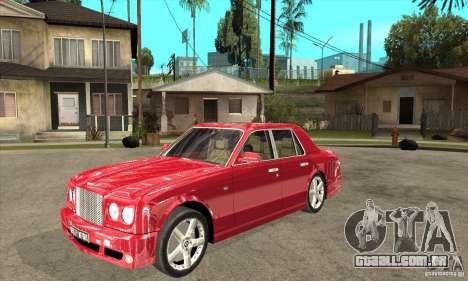 Bentley Arnage T para GTA San Andreas esquerda vista