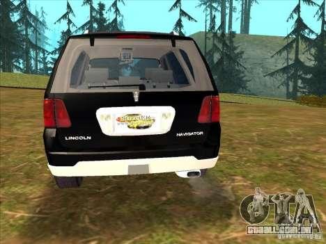 Lincoln Navigator para GTA San Andreas esquerda vista