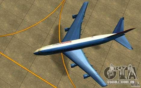 B-747 American Airlines Skin para GTA San Andreas vista traseira