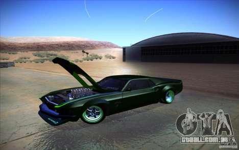 Ford Mustang RTR Drift para GTA San Andreas traseira esquerda vista