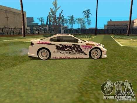 Infiniti G35 Top Secret para GTA San Andreas vista traseira